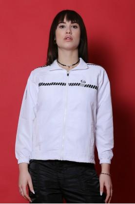 Sergio Tacchini giacca donna cotone taglia 40 zip sport manica lunga