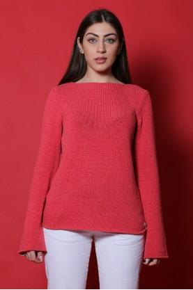 Calvin Klein maglia donna cotone taglia L filo fucsia manica lunga