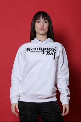 Scorpion Bay maglia donna cotone taglia XL felpa bianco manica lunga