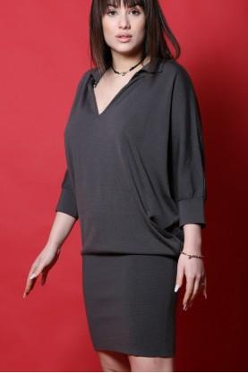 Liu. Jo abito donna lana taglia 42 corto jersey grigio manica 3/4