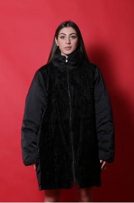 Elena Mirò Giacca Cappotto donna Poliestere taglia 42 nero lungo