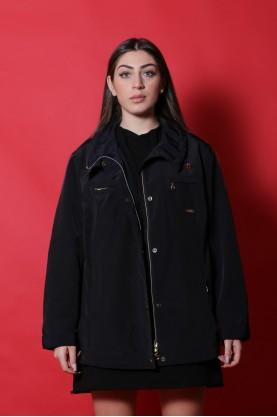 Elena Mirò Giacca donna Nylon taglia 50 Blu cappotto lungo bottoni