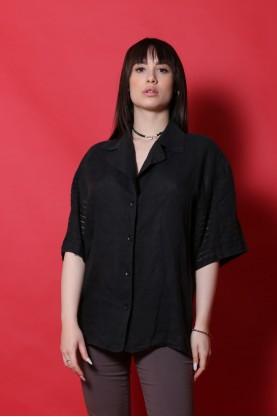 Christian Dior camicia donna lino taglia 44 casacca manica corta