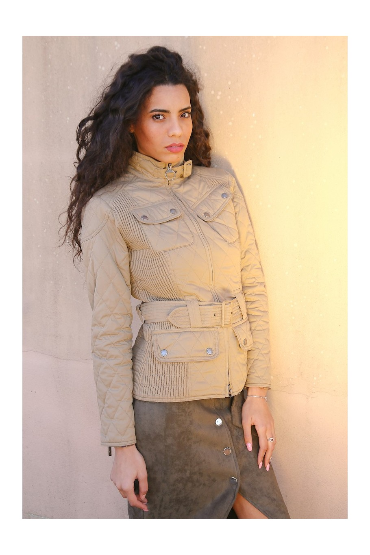 BARBOUR Giacca Piumino Donna Tg 38 giubbino Jacket woman beige sportivo