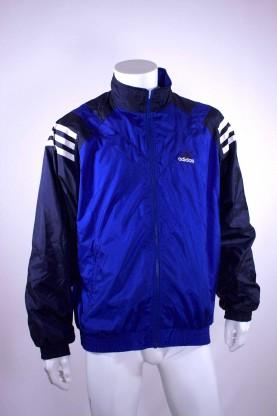 ADIDAS giacca tuta  tg L blu bicolore regular fit allenamento