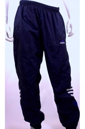 ADIDAS pantalone tuta blu tg L cotone con elastico caviglia