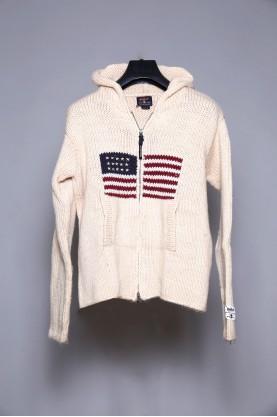 WOOLRICH maglione lana uomo con zip tg M jacket wool man con cappuccio