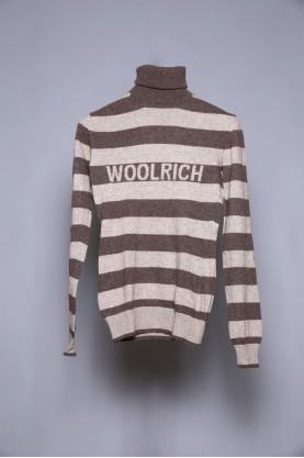 WOOLRICH maglione lana uomo collo alto tg M slim fit wool shirt man