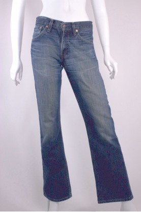 LEVIS  507 jeans donna denim blue tg 44 vita alta comfortable