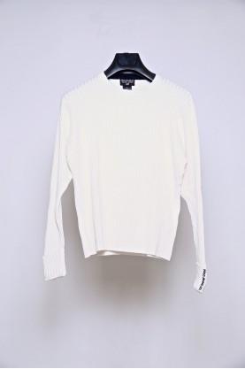 RALPH LAUREN maglia uomo cotone bianco trecce tgL shirt cotton sport man