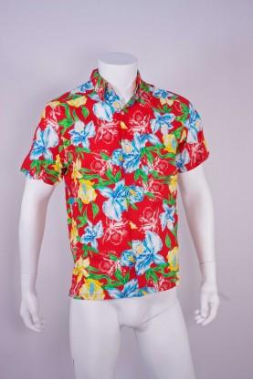 Vintage camicia uomo tg L fiori over size hawaiana
