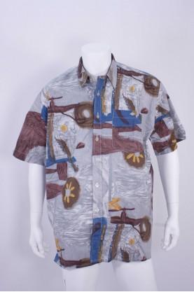 Vintage camicia uomo tg 44 over size con taschino