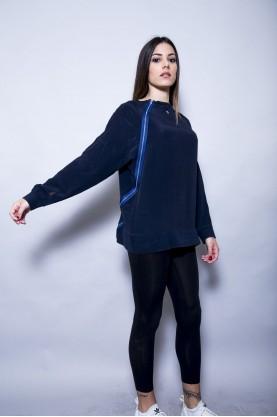 DONDUP maglia seta cotone manica lunga con zip tg L shirt silk cotton