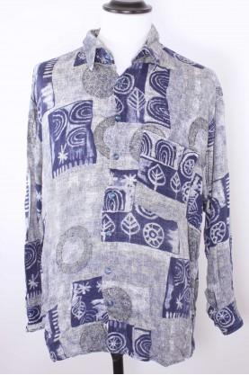 vintage 90' camicia uomo tessuto lana tg XL regular
