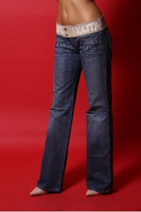 Nolita Jeans donna cotone tg 42 regular vita bassa blu
