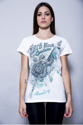 HARD ROCK t-shirt donna con stampa tg M shirt cotton  music