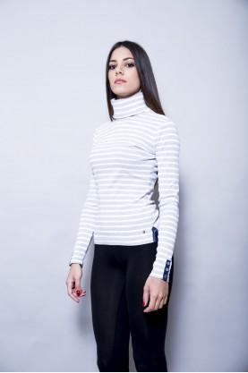 TOMMY HILFIGER maglia cotone donna collo alto tg XS t-shirt slim fit