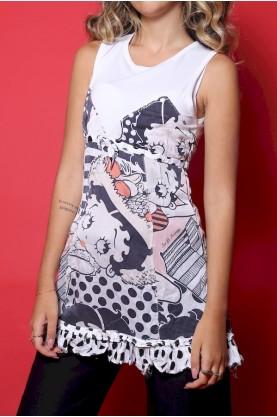 Iceberg t-shirt donna tessuto viscosa tg 44 stampa Betty Boop