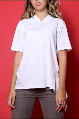 Roccobarocco Maglia Donna Cotone Taglia 42 Shirt Oversize Manica Corta