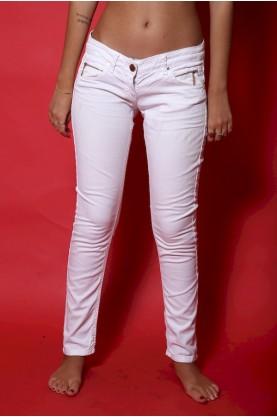 Elisabetta franchi pantalone Jeans donna tessuto cotone tg 42 slim fit bianco