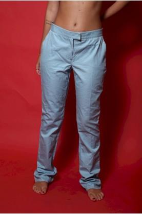 Blumarine pantalone donna tessuto cotone tg 44 regular azzurro