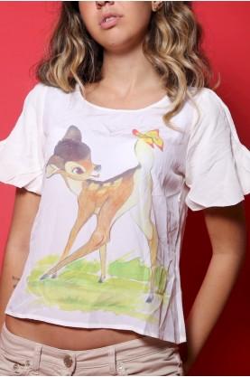 Jc de Castelbajac t-shirt donna tessuto seta tg 40 regular manica corta