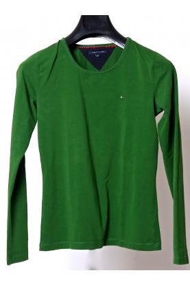 TOMMY HILFIGER maglia uomo lana verde maglione tg M wool green