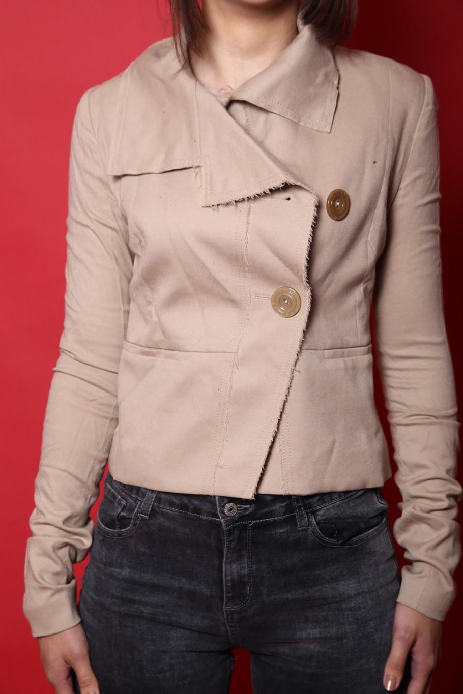 Patrizia Pepe giacca donna tessuto cotone tg 40 slim fit beige