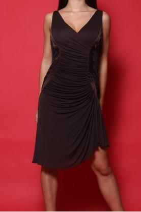 Roberto Cavalli abito donna cotone nylon taglia 46 marrone lungo