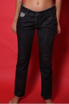 Armani Jeans donna Tessuto Cotone Tg 44 Vita Bassa Nero