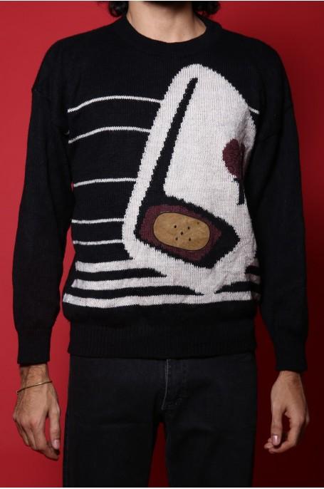 Iceberg maglione pullover uomo Tessuto lana Tg XL regular nero