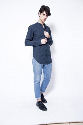 DIESEL camicia uomo righe blu manica lunga sport casual man