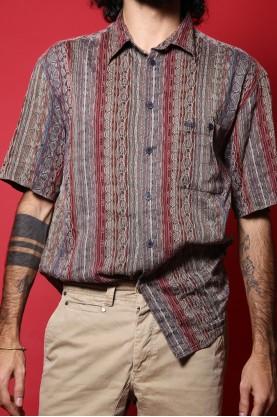 Missoni sport camicia uomo cotone tg L manica corta fantasia