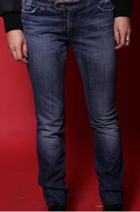 Dolce & Gabbana Jeans Donna tessuto Cotone Tg 40 modello vita bassa blu scuro