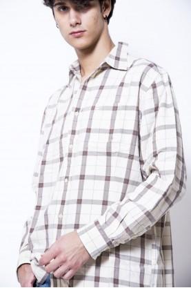 TIMBERLAND camicia uomo cotone quadri tg44  manica lunga man cotton