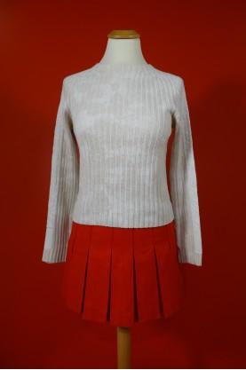 Versace maglione donna tessuto cotone tg S sli fit stampa su retro grigio