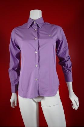 Burberry camicia donna tessuto cotone tg M slim fit manica lunga viola