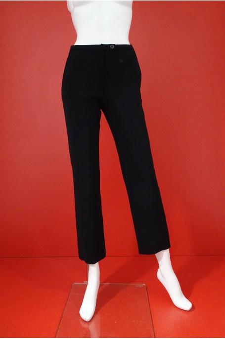 Missoni Pantalone Donna Taglia 40 Cotone Nylon Slim Nero Regular