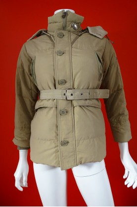 Peuterey giacca donna tessuto cotone tg M slim fit beige