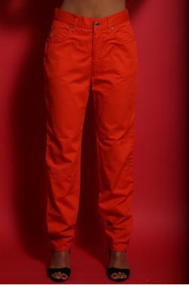 Roccobarocco Pantalone Donna Cotone Taglia 44 Arancio Vita Alta Regular