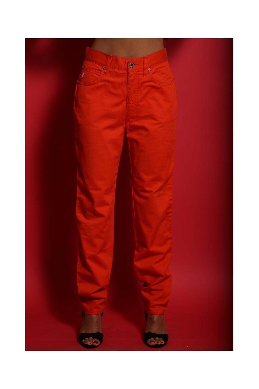 RoccoBarocco pantalone arancio normal fit estivo tg 44