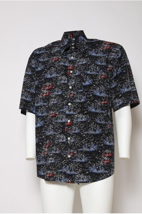 VINTAGE Camicia Original ANNI 90 Size Taglia 44 blu manica corta
