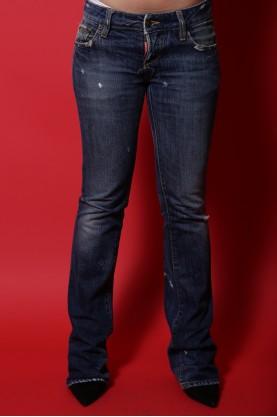 Dsquared Jeans Donna tessuto Cotone Tg 38 vita bassa blu scuro