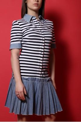 GIANFRANCO FERRE' abito donna tessuto cotone tg 40