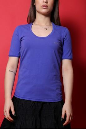 Armani jeans Shirt blu cobalto cotone estate tg 42