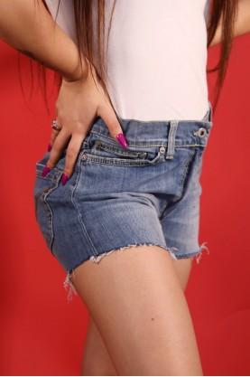 Dondup Jeans Pantalone Corto Donna Taglia 40 Cotone Regular Short Blu Wash