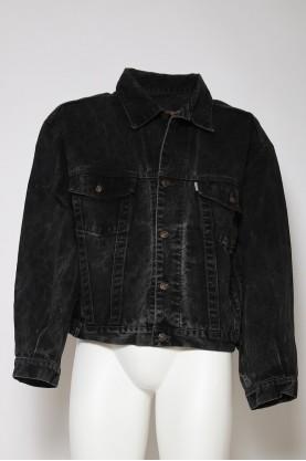 DIESEL VINTAGE giacca jeans giubbotto tg 48 nero denim jacket black