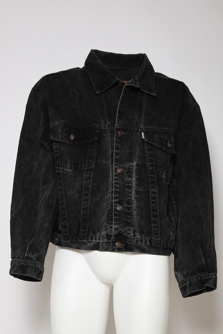 new arrival ce4a6 d5c18 DIESEL VINTAGE giacca jeans giubbotto tg 48 nero denim jacket black