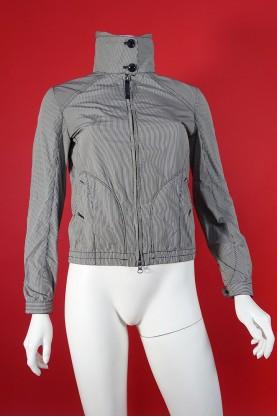 Woolrich giacca donna tessuto tecnico tg S quadretti binco/nero anti vento