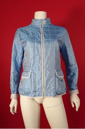 Fay giacca donna tessuto nylon trapuntato tg XL celeste con bordi bianchi
